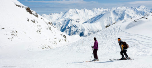 Skiing in the French Pyrenees