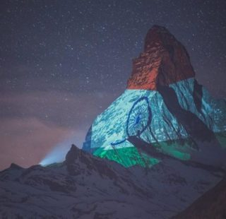 Matterhorn in Switzerland lights up with the Indian flag